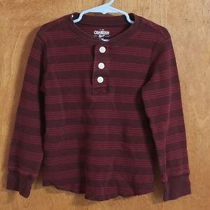 Oshkosh Long Sleeve Knitted 3 Button Henley